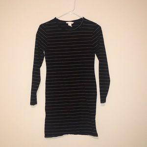 Black stripped dress